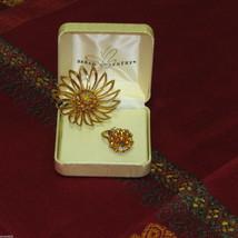 Sarah Coventry Rhinestone Brooch & Adjustable Ring Set Vintage Signed Jewelry - $17.97