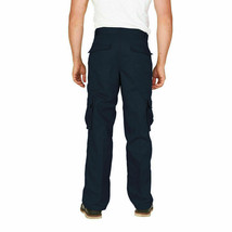 Men's Classic Multi-Pocket Casual Military Navy Cargo Pants Trousers - 38x30 image 2