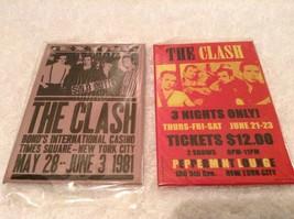 """2 New The Clash FRIDGE Magnets 2"""" x 3"""" Concert NY Reprint 1981 Metal - $7.97"""