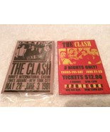 "2 New The Clash FRIDGE Magnets 2"" x 3"" Concert NY Reprint 1981 Metal - $7.97"