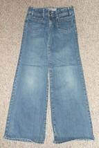 OLD NAVY Adjustable Waist Stretch Bootcut Denim Jeans Girls Size 12 - $4.66