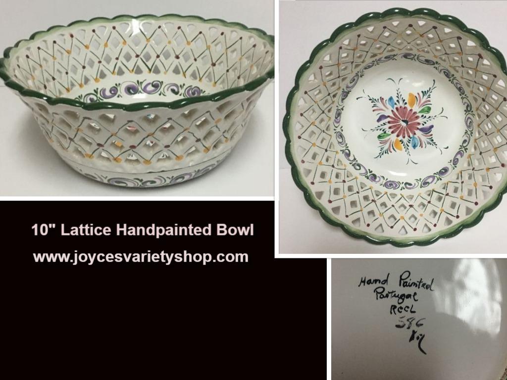 Lattice bowl web collage