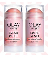 2 Olay Fresh Reset Pink Mineral Complex Clay Face Mask Stick 1.7 OZ - $13.63