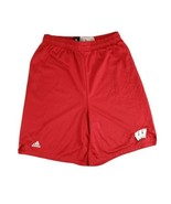 Wisconsin Badgers Adidas Team Issued Practice Shorts 22 Tessa Cichy Red ... - $22.24