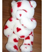 Valentines Day Build A Bear Plush White w Red Hearts Magnetic Hands & Mo... - $24.00