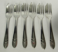 M.S. Ltd. Maurice Stables Silverplate 6 Pastry Forks Sheffield England L... - $14.84