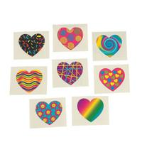 36 Fun Assorted Funky Heart Kids Temporary Tattoos #32/898 - $2.48
