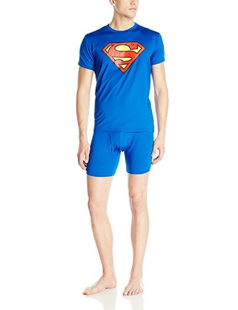 Small Men's Superman Action T-Shirt and Boxer Brief Underwear Set Tee Shirt