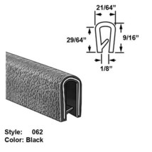 "Flame-Retardant Plastic U-Channel Push-On Trim, Ht. 9/16"" x Wd. 21/64"" -... - $136.82"