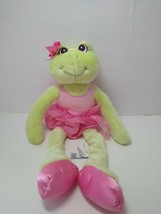 "Aurora Ballarina Frog Plush Green With Pink 15"" Stuffed Animal Ages 3+ - $14.85"
