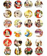 "Vintage Alice in wonderland digital download collage sheet 1.5"" circle p... - $3.50"