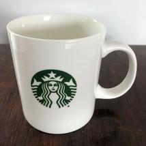 Mermaid Siren logo White Green Starbucks 2015 Coffee mug cup 12 oz  ceramic - $19.99