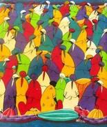 Signed W.S.J Women in Marketplace Haitian Creole Original Canvas Haitian... - $399.99