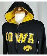 IOWA HAWKEYES Campus Heritage Hooded Sweatshirt Zip Front NCAA Hoodie Ad... - $21.79