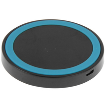 QI standard wirless charging pad black blue for htc samsung and other sm... - $14.99
