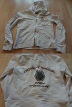 Women's Harley Davidson M White Zip Up Jacket - $23.16