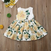 NEW Girls Yellow Floral Sleeveless Dress 3T 4T 5T 6 7 Easter - $12.99