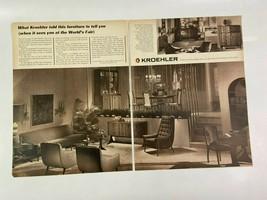 Kroehler Furniture Magazine Ad 10.75 x 13.75 Remington Shaver Lees Carpet - $9.89