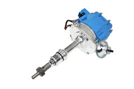 SBF Ford Small Block 260 289 302 HEI Ignition Blue Cap Distributor w/ 65K Coil image 6
