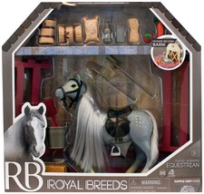 Lanard Horse Play Corral Stable Set grooming feed barn Royal Breeds eque... - $19.72