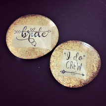 I DO CREW Ultra Sparkle Pins, Bachelorette Party, Hen Night Badges, Brid... - $10.00