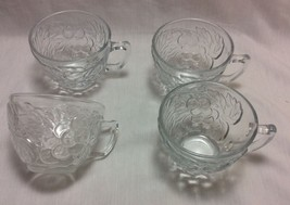 Crystal Mugs with Raised Grapes Design, Gibson Everyday Set of 4. - £6.53 GBP