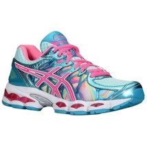Women's Asics Gel-Nimbus 16 Running Shoes Iridescent/Pink Capri/Blue US 6 - $149.97