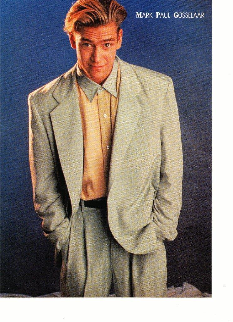 Mark Paul Gosselaar Chesney Hawkes teen magazine pinup clipping dressed up 90's