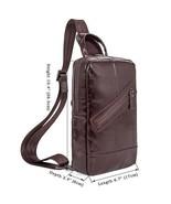 Sale, Leather Messenger Bag, Vertical Messenger Bag, Men's Work Bag, Min... - $95.00
