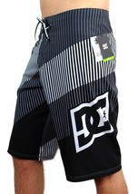 NEW DC SHOES MEN'S CLASSIC BOARD SHORTS SURF TRUNKS SWIMWEAR 4 WAY STRETCH GRAY image 1