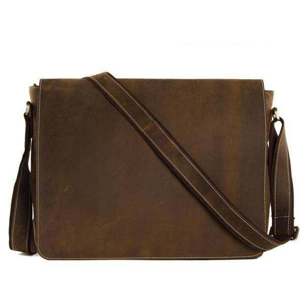Sale, Handmade Vintage Leather Bag, Leather Messenger Bag, Men's Leather Shoulde