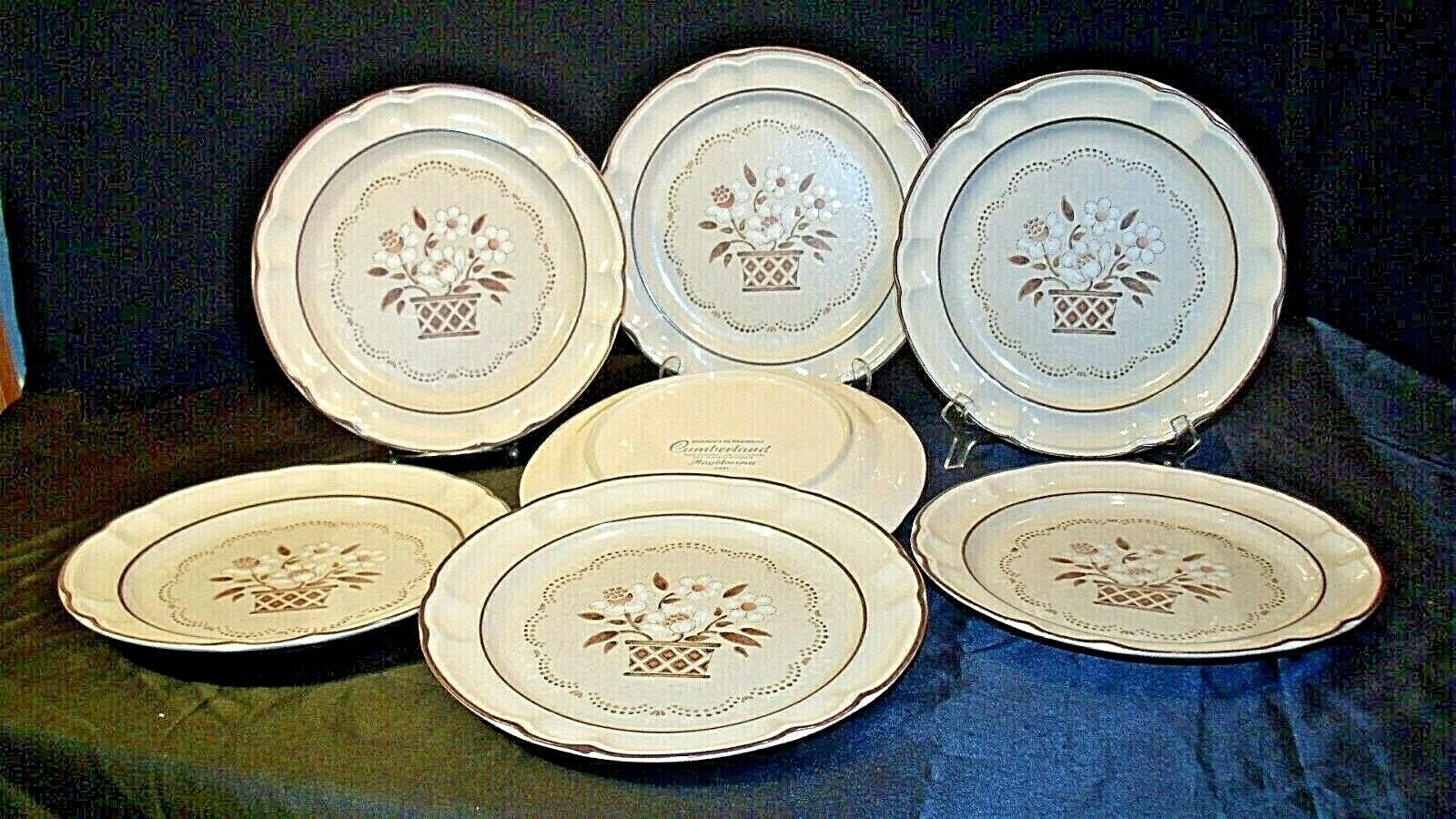 Stoneware Cumberland Mayblossom Dinner Plate by Hearthside Replacement pieces AA - $89.95