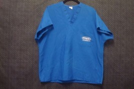 Scrub Top Unisex Sz Large/Xtra Large Short Sleeve Blue Nutramax - $9.70
