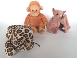 Lot of 3 Retired Beanie Babies! Batty Bongo Freckles- Tush tags - NO Han... - $9.74