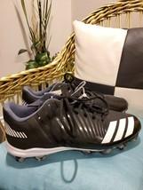 Adidas Icon MD Baseball Cleats Men's size 12 new black white camo bottom b39223 - $30.00