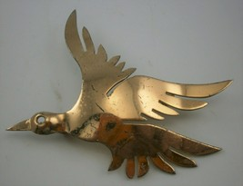 Vintage Sterling Silver with Gold Wash Stylized Figural Bird Pin - £15.29 GBP