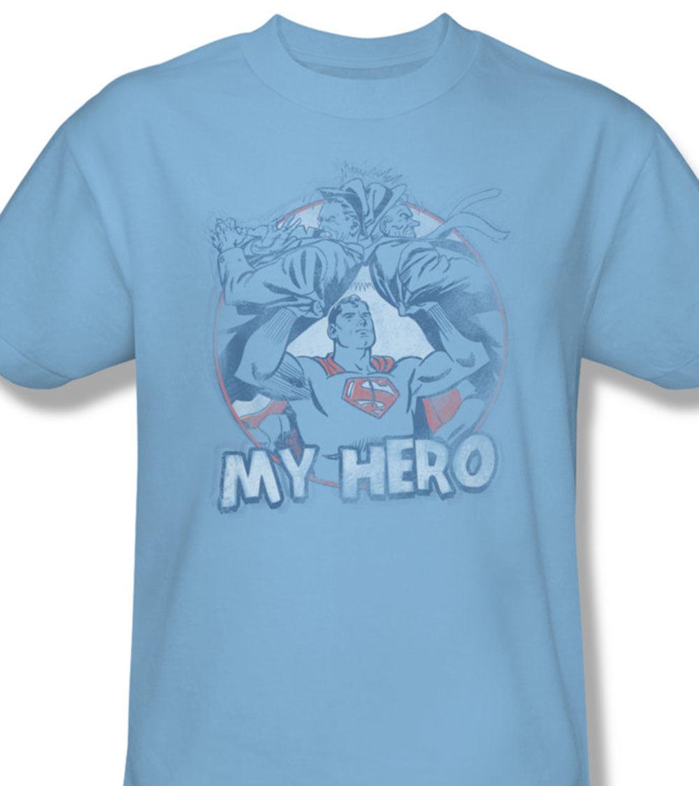 Superman dc comics my hero superhero vintage for sale blue online graphic tshirt