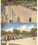 Florida FL  SHUFFLEBOARD COURTS  St Petersburg & Lakeland  *2* c1940's P... - $6.83