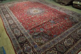 11x17 Red Traditional Handmade Fine Quality Sheik Safi Najaf Persian Rug image 11