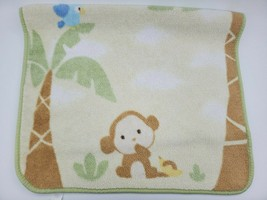 Carters Baby Blanket MONKEY Jungle Safari Fleece Crib Toddler Parrot B350 - $34.99