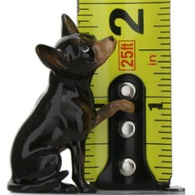Hagen Renaker Dog Chihuahua Sitting Black and Tan Ceramic Figurine image 2
