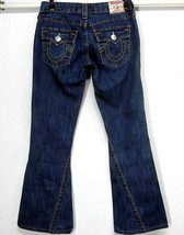 TRUE RELIGION JOEY BIG T 28 W31 L30 COTTON FLAP POCKET TWISTED DARK BLUE... - $71.41