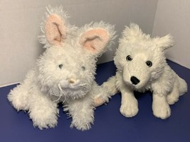 Webkinz Rare Fluffy Marshmallow Bunny & Webkinz Arctic Fox Plush Bundle Lot - $19.99