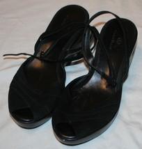 bd41588e0dca Cole Haan Womens Black Ankle Strap Sandals 9B Open Toe 9 B -  49.69