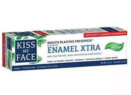 Kiss My Face Enamel Xtra Cool Mint Gel Toothpaste Fluoride 4.5 oz Vegan ... - $18.80
