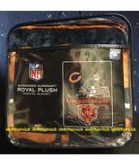 "Chicago Bears NFL 60"" x 80"" Royal Plush Raschel Throw NIP - $69.99"