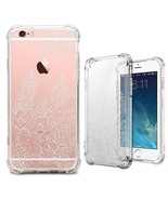 iPhone 6S Plus Case, iPhone 6 Plus Clear Case, MISS ARTS White Floral Ma... - $19.80