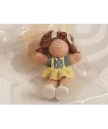 1:12 Dollhouse Miniature Cabbage Patch Doll Artist Polymer Clay Curly Re... - $66.45