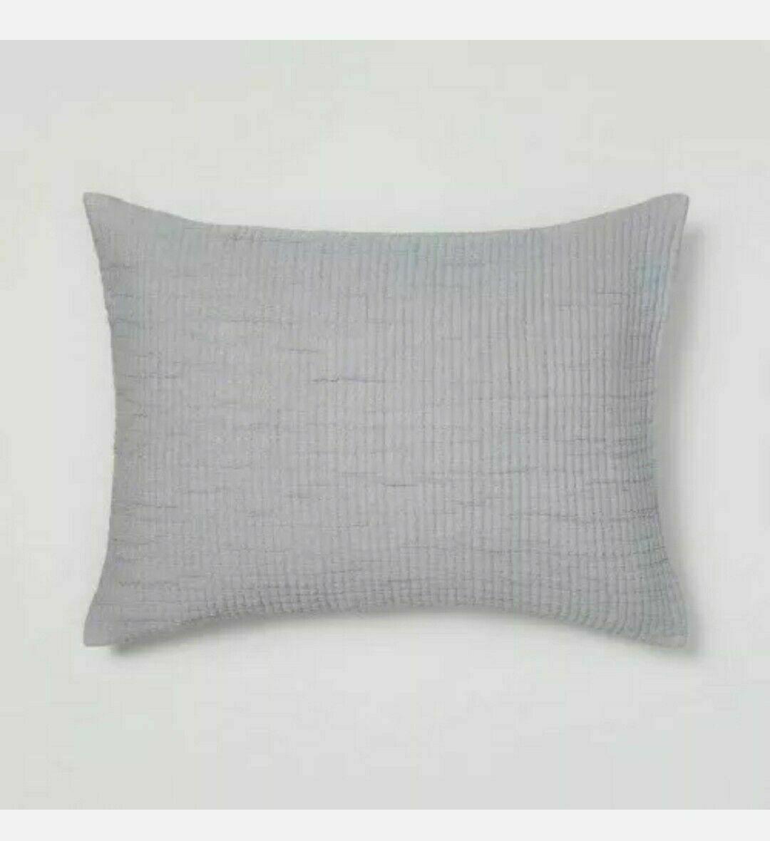 "Opalhouse Standard Gauze Pillow Sham Gray Sky -  20"" x 26"" NWT*clearance"