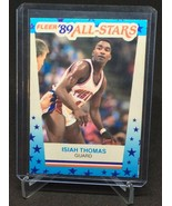 1989-90 FLEER Isiah Thomas '89 ALL-STARS STICKER CARD #6 HOF'er/PISTONS ... - $5.00